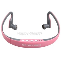 BUH9 Sports MP3 Player Earhook Earphone Earbud Headphones with FM TF Card Slot