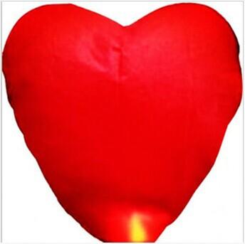 Free Shipping 10pcs/lot Pure Red Heart Shaped Sky Lanterns & Wishing Lamp & Kongming Light sky light Wedding Partys(China (Mainland))