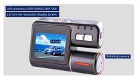 MINI HD dual lens BLACK BOX I1000 car dvr dashcam camera  veicular monitor  video recorder+GPS