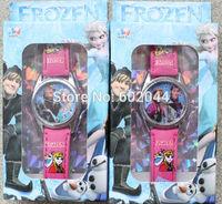 120pcs/lot  Frozen Watch Wristwatches W Free Transparent box DHL Free shipping