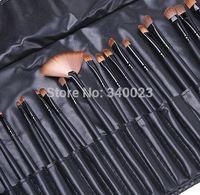 Promotion! Free & Drop Shipping! 32PCS (1Set) Makeup Brush Kit Makeup Brushes + Black Leather Case, MK6
