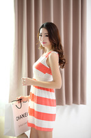 2014 Women's summer Print Dress Novelty Chiffon dresses sleeveless dress