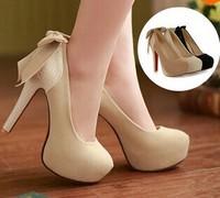 2014 Women Ladies Platform Pumps Sexy Bottom High Heels Prom Heels Wedding Dress Shoes Wedding Shoes size 34-42