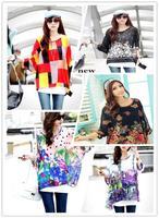 Exotic 3xl 4xl 5xl 6xl plus size tops women chiffon blouses new 2014 casual summer floral print blouses shirts Free shipping