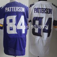 America football jerseys Minnesota #84 Cordarrelle Patterson white/ purple adult elite version mix order free shipping