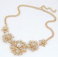 YXSP418       2014 new fashion   Wealth and temperament luxury fashion diamond flower     necklace for women