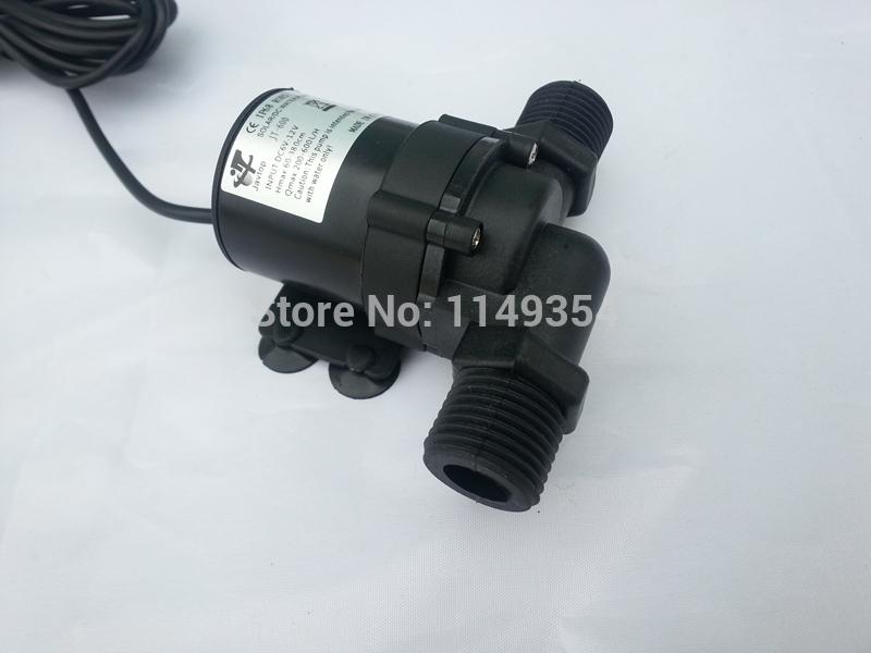 Solar DC 12V 24V Hot Water Circulation Pump Brushless Motor Water Pump MAX lift 5.5M(China (Mainland))