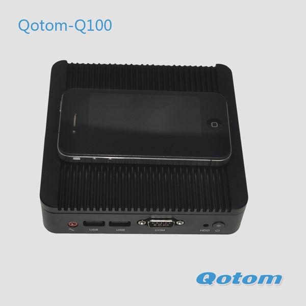Cheapest linux mini pc,4G DDR3 RAM,320G HDD+300M WIFI,industrial computer,tiny windows computer,Qotom-Q100-S02(China (Mainland))