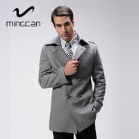 Men Wool & Blends British Style Fashion Slim Fit Coat 53% Wool Soft Feel Men's Winter Autumn Jacket Casaco Masculino