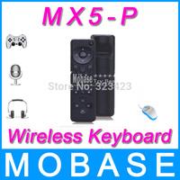 MX5-P 2.4GHz 3D Air Mouse 6-Axis Inertia Sensors Support Motion Sensing Games & Mic Voice Input & Headphone Voice Output Black