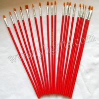 100PCS/LOT.Wood oil brush,Paint brush,Watercolor brush,Draw tools, Art brush,Art tools.0.5x25.5cm.Bulk wholesale.Cheapest.