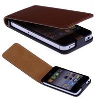 For Iphone 4 4G 4S New 10 Color High quality Leather design Magnetic Holster Flip Leather phone Case Cover Skin B1021