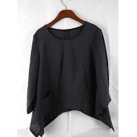 Original design 2014 new linen sleeve blouse in women's clothing