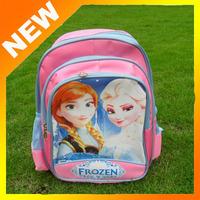 2014  new schoolbag cartoon schoolbag Frozen shoulder backpack, kids school bags,Kids summer holiday gift