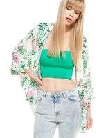 2014 New Fashion Ladies' elegant Floral print Kimono jacket loose non-button coat outwear casual slim brand design tops