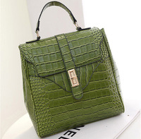 Fashion hot arrive ! Crocodile pu leather green Shoulder bag womens backpack  free shipping