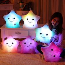 Flashing toys stuffed plush cushion/pillow smiling star wonderful luminous birthday gift perfect present for girls, daughters(China (Mainland))