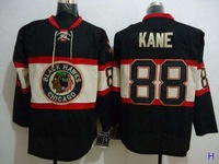 Cheap Chicago Blackhawks Hockey Jerseys #88 Patrick Kane Black 3rd Winter Classic Third Jersey 2013 Stanley Cup Finals Emblem