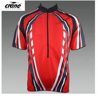 Crane for elastic top cool fabric perspicuousness breathable plus size ride short-sleeve suit 260g plus size