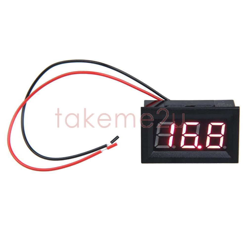 0.56inch LCD DC 3.2-30V Red LED Panel Meter Digital Voltmeter with Two-wire KK#Y(China (Mainland))