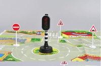 Wholesale Best gift Children's toy car parking lot scene Traffic light toy traffic lights sign traffic signs  Free shipping