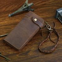 2014 New Male Genuine leather wallets fashion wristlets brown coffee wallets 8031