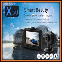 Free Shipping X50 Ambarella Chipset Car DVR 2.7 inch G-sensor Full HD 1920*1080P 120 degree A+ grade Car Video Recorder Camera