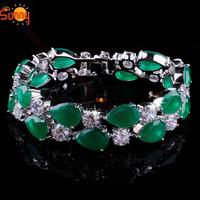 minecraft Jewellery Emareld  crystal braceletlady's 18K white  Gold Filled gift free 1pc
