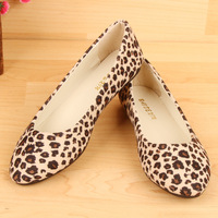 New 2014 fashion Upgrade Quality Women's Flat Shoes Leopard Flat Shoes, Ladies Home Casual Flat Shoes Spring Shoes 0WF002