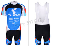 CUBE Sportswear Men's Pro Bicycle Jerseys Shorts Short Sleeve Summer Autumn Ourdoor Riding Suits Cycling Jersey Clothing Set