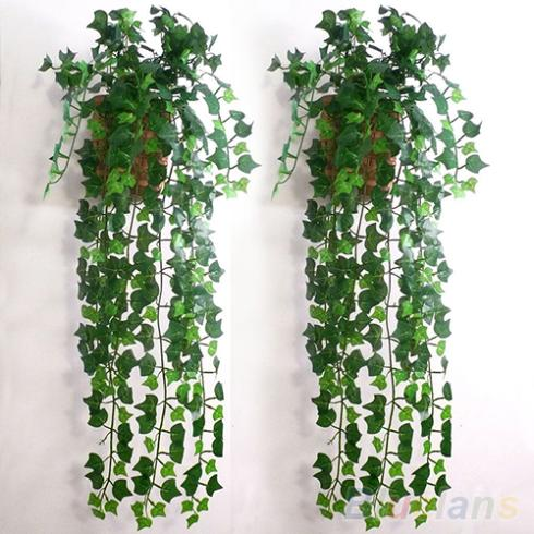 Hot Selling Artificial Ivy Leaf Garland Plants Vine Fake Foliage Flowers Home Decor 07ZK(China (Mainland))