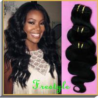Free shipping,20pcs lot wholesale unprocessed body wave virgin brazilian humn hair weaves,50gram/piece