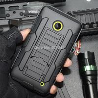 For Nokia Lumia 630 635 Black Hybrid Future Armor Impact Hard Cover Case Holster belt clip Free shipping