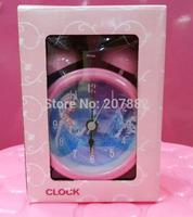 Free Shipping!120pcs/lot! 2015 Fashion Elsa Princess Student Alarm Clock Cartoon Desk & Table Clock  for Girls A3370 Wholesale