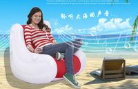 Jilong living room furniture one seat air sofa bean bag sofa music inflatable chair,size95*86*65cm