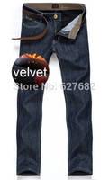 Winter Plus Velvet Warm Fashion High Quality Gentleman Retro Cotton Brand Mens Jeans Men Jeans Famous Brand True Jeans New 2014