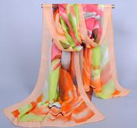 Free Shipping 160*50CM Chiffon Polyester Printed Long Shawls