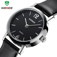Hot sale WEIDE fashion casual watch women 3ATM genuine leather straps watches analog Japan quartz movement ladies wrist watch
