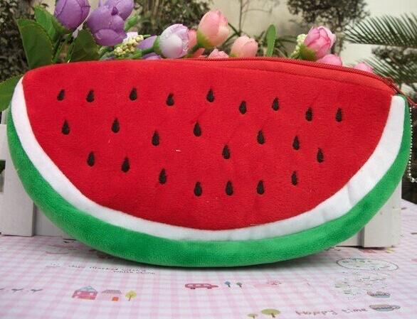 BIG Volume Watermelon School Kids Pen Pencil BAG Case GIFT BAG ; Pendant Cosmetics Purse BAG & Wallet Holder Pouch BAG Case(China (Mainland))