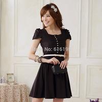 Free Shipping Uncommon women's dress summer black 2014 New