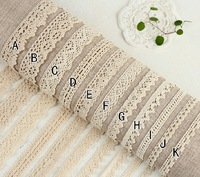 FREE SHIPPING  11 kind style 6 size /lot   All-match lace accessories The manual DIY decorative lace Cotton embroidery LACE