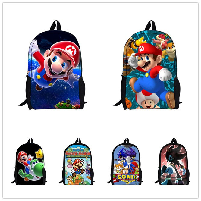2014 Hot Sale Children's 3D Cartoon Backpack,Cool Outdoor Super Mario School Backpack for Kids,Mario Bros Shoulder Bags for Boys(China (Mainland))