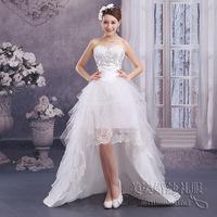 Korean version of sweet princess wedding dress short in front long tail bride Bra