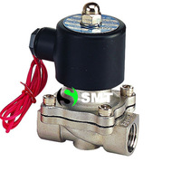 """Free Shipping 1/2"""" Stainless Steel Electric Solenoid Valve 12VDC Normally Closed FKM 2S160-15 DC24V,AC110V or AC220V"""