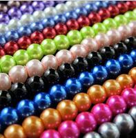 YBB 4mm Glass Round Spacer Beads White Gream Black Blue Etc-2