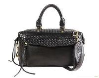 Tote shoulder bags large capacity PU weave bags women handbag black designer  leather messenger bags promotion wholesale A-14