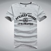 Top brand AFsjeep good quality new 2014 fashion 100% cotton  t shirt men  casual shirt man plus size boy london size M-XXXL
