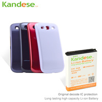 Kandese Extended Large Capacity 6400mAh Lithium Battery Replacement for phone Galaxy S3 I9300 with back cover free shipping