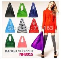 Wholesale !! 7pieces/lot Japan BAGGU square pocket Shopping bag Candy colors available Eco-friendly reusable folding handle New