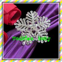hot sell rhinestone snowflake napkin rings for wedding decorations